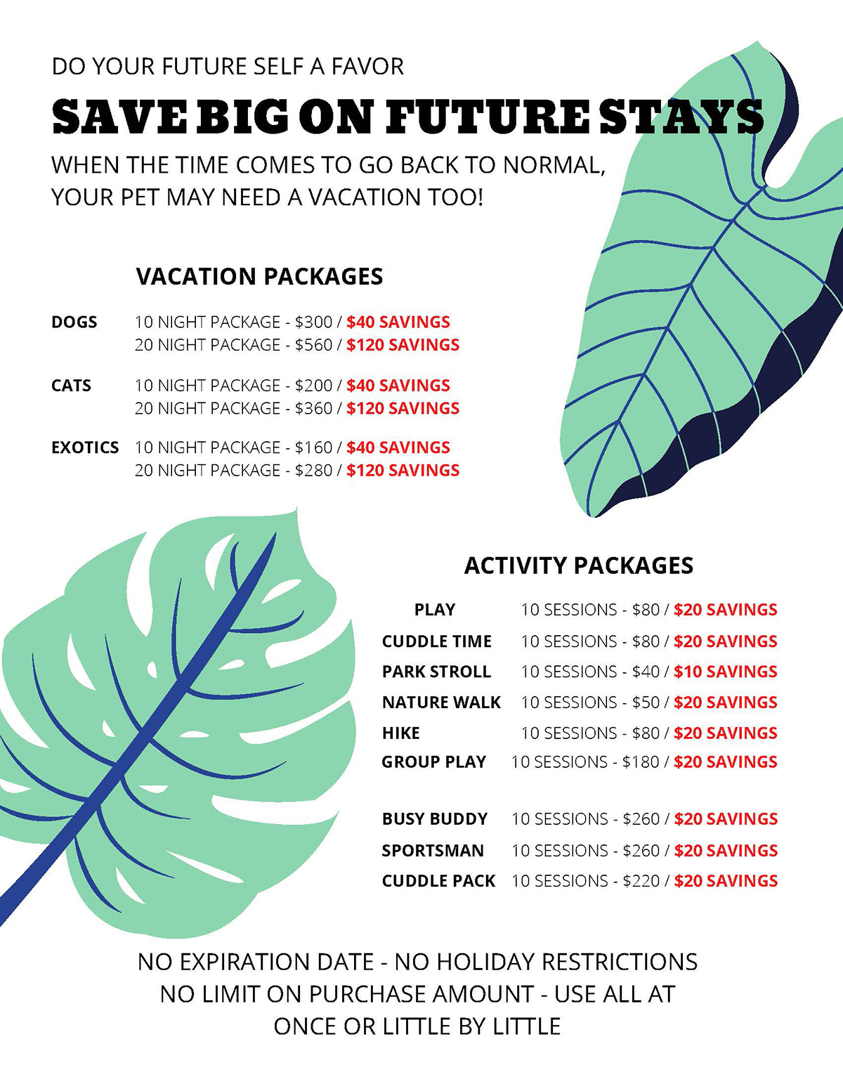 Cascade Kennels Special Offer Vacation Packages